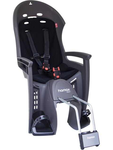 Hamax Smiley Child Bike Seat with Lockable Bracket grey/black